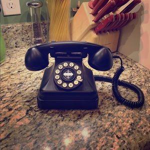 Crosley Retro Inspired Rotary Kettle Phone Black